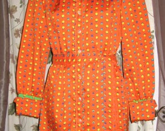 Dress by Gay Gibson Floral 60s 70s Vintage