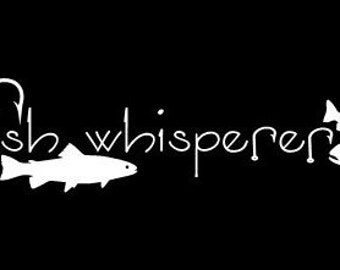 Fish Whisperer car decal vinyl decal laptop decal