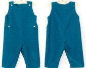 Vintage Baby Romper * Corduroy Playsuit * Baby Onesie Overalls * 12 months