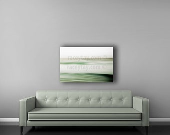 Mint Green Ocean Canvas Wall Art - Mint Beach House Decor - Neutral Wall Art Canvas - Tropical Pastel Beach Decor