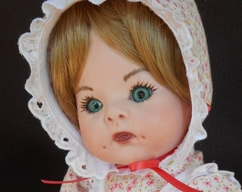 Shirley Temple 12 inch porcelain baby doll - REDUCED PRICE