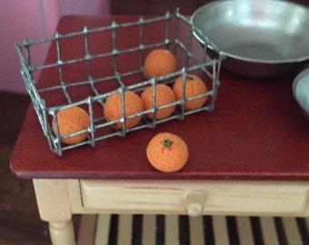 Miniature Oranges, Dollhouse 1:12 Scale Miniature, Dollhouse Food, Accessories, 6 Piece Set