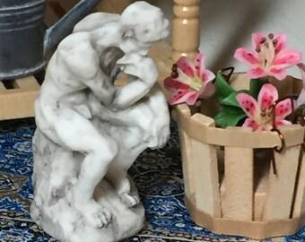 Miniature Garden Statue, Dollhouse Miniature, 1:12 Scale, Dollhouse and Fairy Garden Accessory, Garden Decor