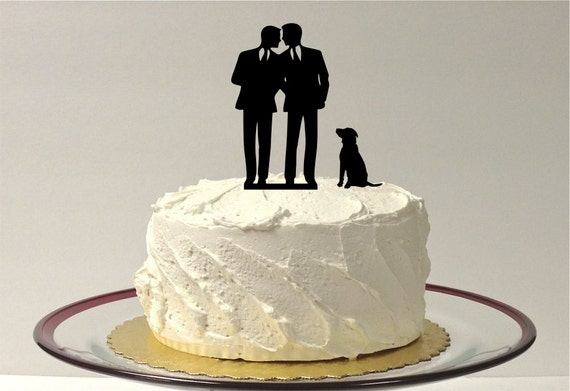 Two Men Cake Toppers