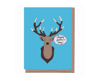 Taxidermy Deer Father's Day Card