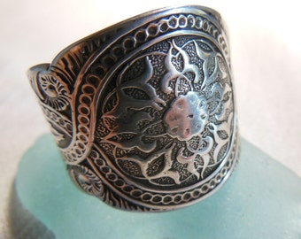Antique Spoon Ring  Sterling Silver    Size 10
