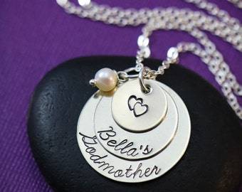 SALE - Godmother Necklace - Godmother Gift - Personalized Godmother Jewelry - Gift from Goddaughter-Religious Birthday Gift-Grandma Gift
