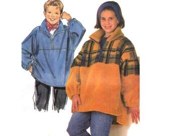Kids Pullover Jacket Pattern Burda 3690 Sewing Pattern Multi Sized Kids Pattern Size 10 12 14 16 UNCUT Factory Folded