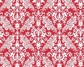 1 Yard of Medium Damask Fabric C830-80 Red Riley Blake Designs Fabric