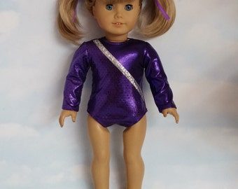 18 inch doll clothes - #116 - Purple Gymnastic Leotard handmade to fit the American Girl Doll - FREE SHIPPING