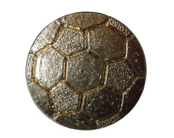 SOCCER BALL lapel cloisonne vintage pin pinback trophy FIFA high school sports