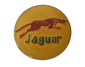 JAGUAR CARS logo vintage lapel cloisonne enamel pinback tie hat pin