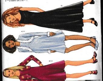 Butterick 3321 Girls'/Girls Plus Jacket and Dress Fast and Easy