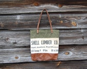 Shell Lumber Co. Brooklyn Cognac Leather Bucket Tote