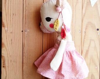 Deer -handmade fabric doll- cloth doll- OOAK