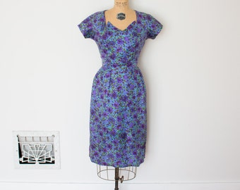Vintage 50s Dress - 1950s Floral Dress - The Rebecca
