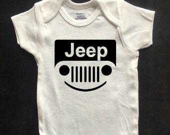 Smiling Jeep Onesie - Funny Onesie / Bodysuit