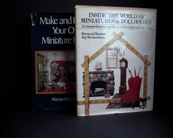Book on Miniatures, Marian Maeve O'Brien, Make And Furnish, Your Own, Miniature Rooms, Hardcover Book, Dollhouse Miniatures, Lot 2 Books
