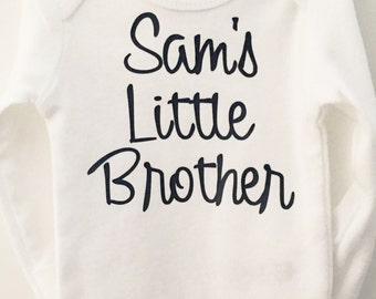 Little Brother Bodysuit, Brother Baby Bodysuit, Sibling Shirt: New little brother; Promoted to Big Brother