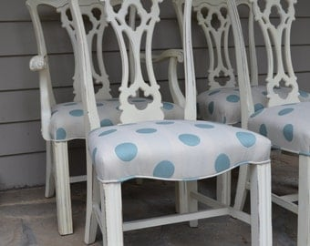 Handpainted Set of 4 Chairs
