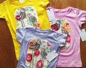 Lil' Birdie Handprinted Girls Shirt Limited Sizes and Colors Most Popular Print Last 3 Available Ready to Ship