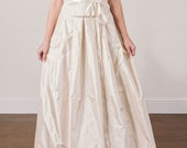 Wedding Dress SAMPLE SALE -- Silk Taffeta Pleated Skirt Wedding Gown Separates