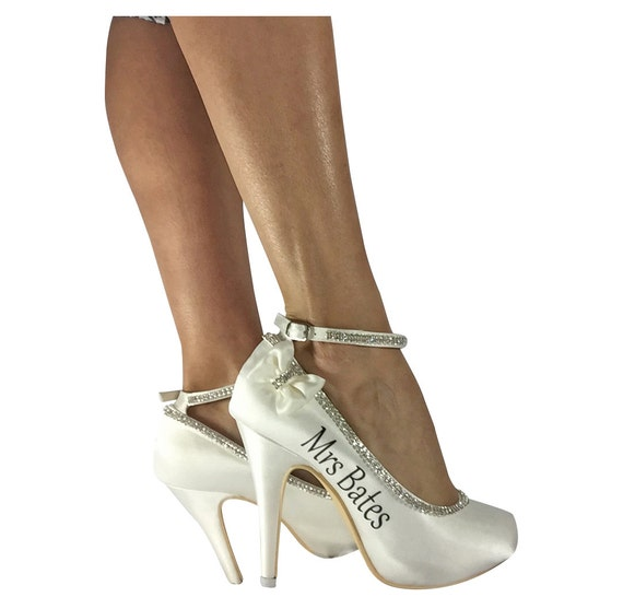 Ivory 4 Inch High Heels For Bridal Wedding Shoes Pumps With