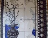 Faye Nakamura - Beautiful Large Framed Tile Nude in Faye's Stunning Classic Style