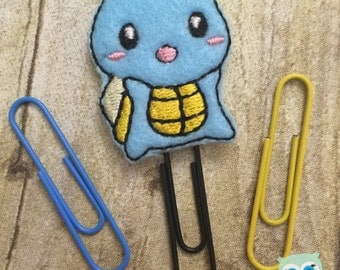 Planner Clip - Catch me if you can Blue Feltie Page Marker (Bookmark) For Personal Planners, Calendars, Cookbooks, etc.