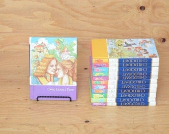 Vintage Set Of 12 Pictorial Encyclopedia On Child Craft Books Beautifully Illustrated