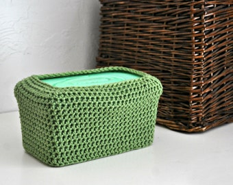 Green Baby Wipes Box Cover Modern Nursery Decoration Home Decor Custom Colors