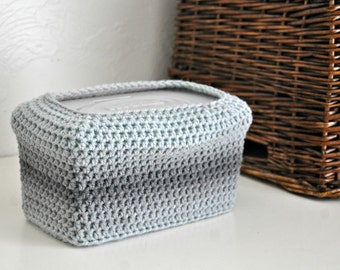 Grey Ombre Baby Wipes Box Cover Modern Nursery Decoration Home Decor