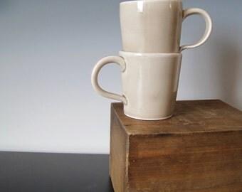 Demitasse Mug Set in Baby Gray, Porcelain - ready to ship