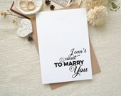 Bride / Groom wedding day card. I can't wait to marry You card.  Wedding stationery. LC312