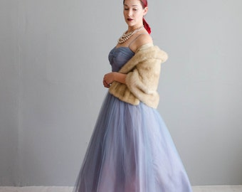Vintage 1950s Party Dress - Tulle 50s Dress - Wanderlust Tulle Dress
