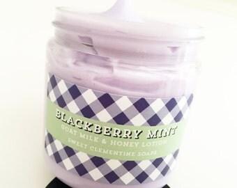 Blackberry Mint Lotion, Hand Lotion, Body Lotion, Goat Milk Lotion, Body Cream, Hand Cream, Moisturizer,
