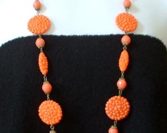 Fabulous Vintage Art Deco Early Cast Plastic Necklace and Earring SET Chrysanthemum Flower Dangle Earring Set Metal Filigree
