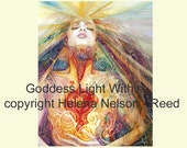 Goddess Light Within original art reproduction on paper Helena Nelson Reed