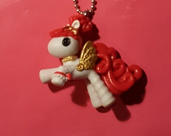 Lalaloopsy white pony miniature necklace