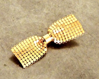 vintage gold mesh hair barrette