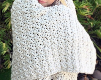 Chunky Throw Blanket Crochet Pattern, Afghan Crochet Pattern, Winter Blanket, Lion Brand Yarn Pattern, Blanket Crochet Pattern, Lap Blanket