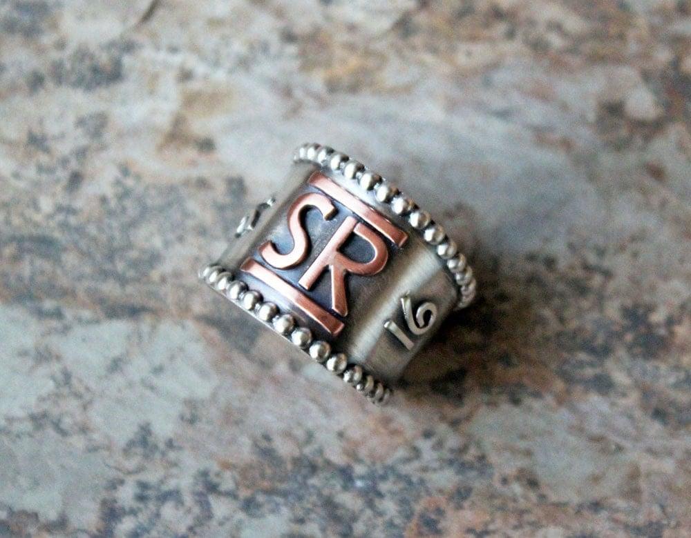 Custom Brand Ring Cattle Brand Ranch Brand Monogram Ring