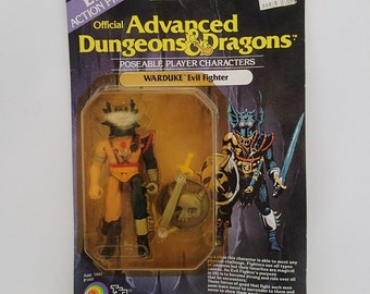 Official Advanced Dungeons & Dragons Poseable Chracters Warduke Evil Fighter Action Figure Mint on Card MOC 80s Toy