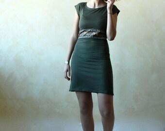 Women dress, mini dress, short dress, short sleeve dress, olive dress, pencil dress, sexy dress, fitted dress, day dress, women clothing