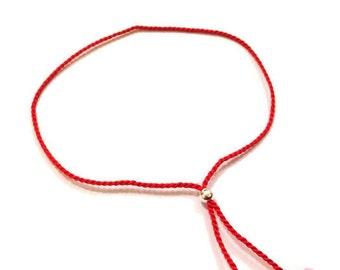 Red string bracelet, red thread bracelet, jewish jewellery, kabbalah bracelet, summer bracelet, red bracelet
