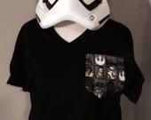 star wars pocket tee. star wars. tshirt. pocket tee. stormtrooper. bb8. star wars shirt.