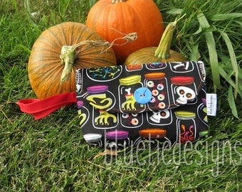 Spooky Things in Jars Hand Clutches