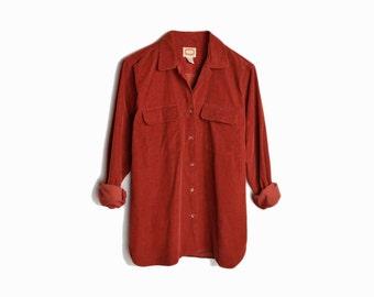Vintage Corduroy Boy-Shirt in Rust - women's large