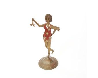 Vintage Brass Lady Scissor Stand / Jewelry Stand