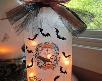 Wine Bottle Lamp - Halloween